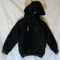 Boys Next Black Padded Hooded Quilted Bomber Jacket Winter Coat Age 3 Years