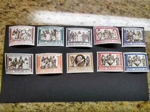 Vatican Mint Stamps Set of 10 Never Hinged