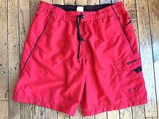 Speedo Men's Bathing Swimming Suit Trunks Red Sz S Small bx26
