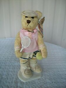 """Brass Button Bears (Pickford) ~ Sports Bear ~ Missy ~ 12"""" Tall with Tag & Stand"""