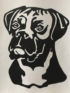 1x Boxer Dog Vinyl Sticker Decal Graphic Car Van Window 4x5.5inch Black
