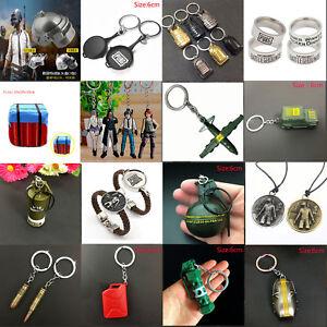 PUBG Pan Helmet Playerunknowns Battlegrounds KeyChain Ring Necklace Pendant Gift