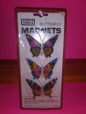Vintage 1982 Butterfly Refrigerator Magnets New Nos