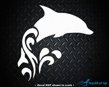 """Dolphin Jumping Swimming Ocean Cute Car Decal / Laptop Sticker - WHITE 4"""""""