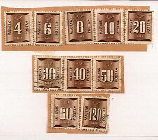 Hungary - Selection of 1951 Postage Due Stamps - Used (C)