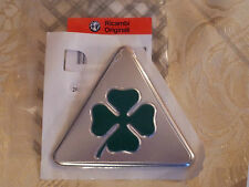 2 pegatinas emblemas ORIGINALES trébol verde ALFA ROMEO MITO 147 logo friso