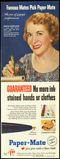 1953 Vintage ad for Paper-Mate Pens with Gracie Allen (010113)