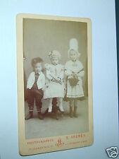3 ENFANTS carte de visite  photo véritable  E. ANDRES Giromagny H. Rhin