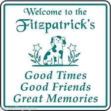 Personalized Welcome Home House, Family Dog Decor Plaque Sign Custom USA Made
