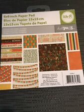 AMERICAN CRAFTS WE R MEMORY KEEPERS 6 X 6 PAPER PAD Hall Pass, 18 Double Sided