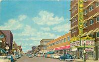 Aberdeen South Dakota Main Street Theater Marquee 1935 Postcard 12324