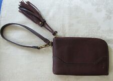 FRYE Paige Wristlet Wine New with Tags Zip Wallet Bag Clutch Genuine Leather