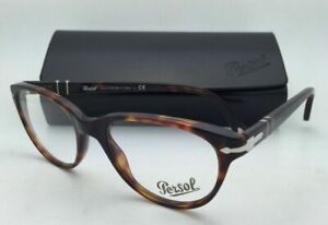 New PERSOL Rx-able Eyeglasses 3036-V 24 50-19 140 Havana Tortoise Frame w/ Clear