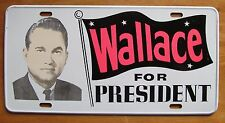 1968 WALLACE FOR PRESIDENT BOOSTER License Plate