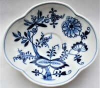 Antique Meissen Blue Onion Saucer 13cm wide