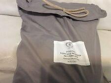 Restoration Hardware Italian Vintage Washed 464 TC King  Duvet Fog Grey NEW