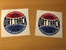 2x DIRT TRACK Aufkleber Sticker Motocross Bike Pocket Scrambler Tracker NEU M008