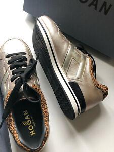 HOGAN, Luxus Sneaker, Gr. 38,5/Gold (NP 369.-)