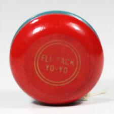 Vintage YoYo Fli-Back Undersized Yo-Yo - Double Circle Red & Blue Wooden YoYo