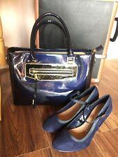 Moda Dark Blue Patent Handbag