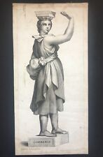 Gravure XVIIe, Audran, Raphaël, Le Commerce, Incisione Engraving 17th, Rome.