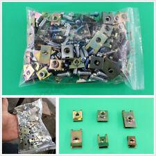 200 Pcs/Bag U-Type Gasket Car Body Door Penal Fastener Fixed Screw Clips U-Nuts