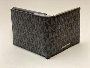 Michael Kors Mens Jet Set Wallet 86F1LMNE6B Black L-fold W/ ID New In Gift Box