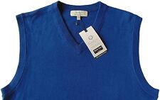 Men's TURNBURY Atlantic Blue Merino Wool Sweater Vest Small S NEW NWT BIELLA