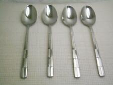 "Cambridge LANDSCAPE Set of 4 Oval Soup Spoons 8"" Stainless Flatware"