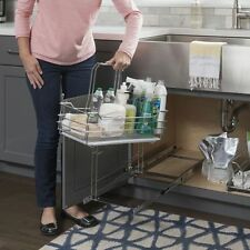 Single Cleaning Supply Caddy Pullout for Sink Cabinet -11 Minute Install