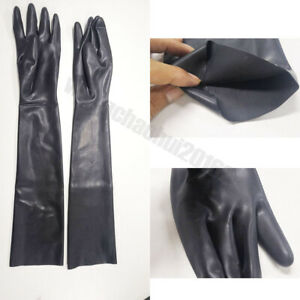 100% Latex Pure Latex 3D Moudl Opera Long Gloves Rubber Moulded Seamless