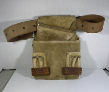 Vintage Rooster Products Leather Suede Carpenter Tool Belt