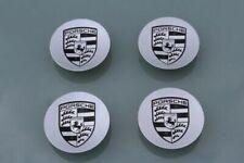 Porsche MACAN OEM Factory Wheel CONCAVE Center Caps set of 4 SILVER/BLACK
