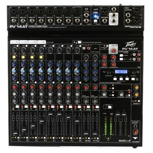 Peavey PV 14 AT  14 Channel Analog Mixer with Auto-Tune and Bluetooth