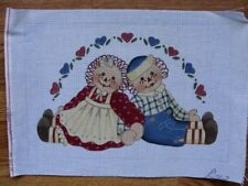 Raggedy Ann Andy Hand Painted Needlepoint Canvas Liz Dillon - Alice Peterson