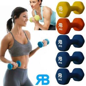 Neoprene Neo Dumbbells Weights Strength Exercise Home Training 2,3,4,6,8KG Sets