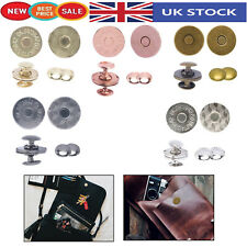 Round Magnetic Snap Clasp Fasteners Double Rivet Closures Crafting Projects Bags