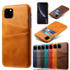 For iPhone 12 Pro Max 11 12 XS XR 8 7 Leather Wallet Card Pocket Slim Case Cover