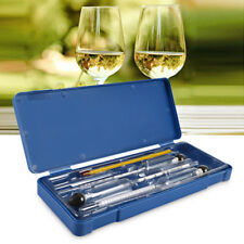 Newest 3PCS Hydrometer Alcohol Meter Tester Measure Wine Liquor With Thermometer