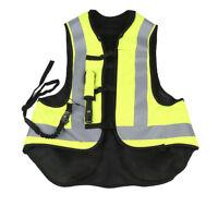 Black Fluorescent yellow Air Bag Airnest Airbag Vest Hi Visibility Size L TCMT