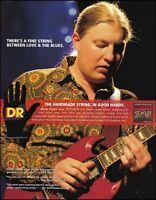 Allman Brothers Derek Trucks Band DR guitar strings ad 8 x 11 advertisement 234