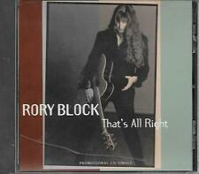 RORY BLOCK - That's all right PROMO CD SINGLE 1TR US Print 1996 (ROUNDER)