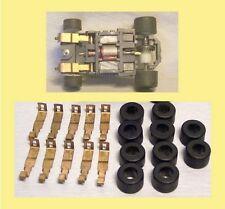 TYCO Ho Slot Car chassis MAGNUM tous types: 10 lames + 10 pneus Arrière urethane