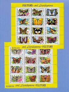 """RUMÄNIEN 1991 - postfrisch**MNH - MiNr. Block 267-268 """"Schmetterlinge"""""""