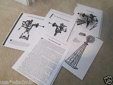 Dandy Steel Pumping Windmill Diagrams & Trade Description