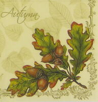 "4x Single Table Paper Napkins for Party, Decoupage, Craft ""Vintage Autumn"