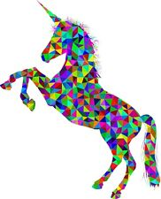 Rainbow Unicorn Colourful Multicoloured Iron on transfer / Fun / KIDS - A5 Size
