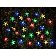 100 Garden Solar Powered Bright Natural Lights (Flowers)