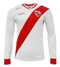 PERU Jersey New Arza Soccer White Long Sleeve For Men 100% Polyester