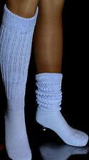 Lt Blue Slouch Knee thigh high  Socks for Hooters Uniform Halloween Costume lg